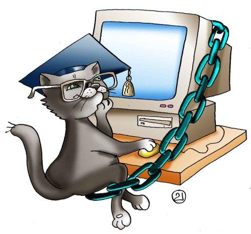 Современный кот ученый 0